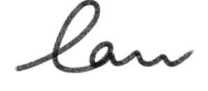 nombre de laura escrito a mano alzada