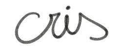 nombre de cristina escrito a mano alzada